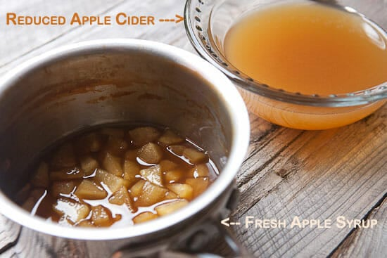 apple cider reduction -Apple Cider Waffles