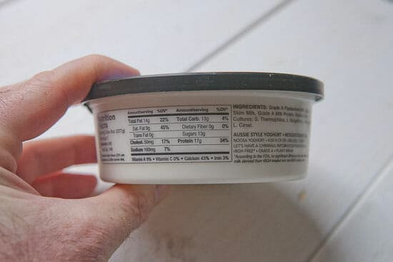 Pectin in Fruit on the Bottom Yogurt