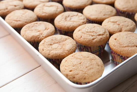 Baked churro cupcakes recipe.
