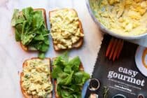 A simple but flavorful egg salad with crunchy veggies and just enough curry spice. From the Easy Gourmet cookbook..