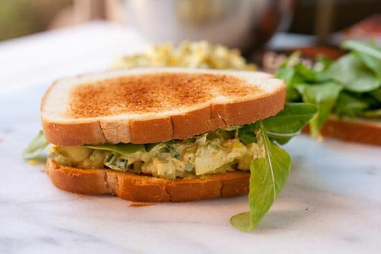 Curry Egg Salad sandwich