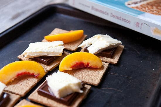 Getting gooey - Peach S'mores