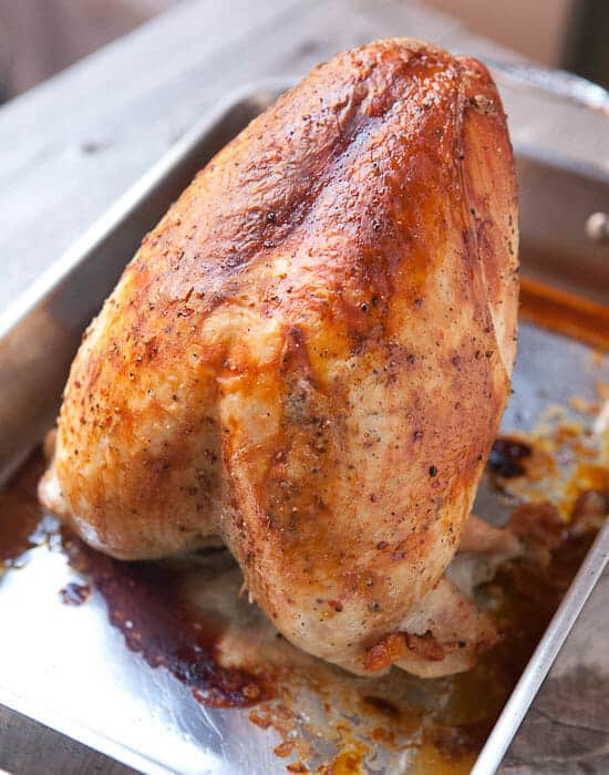 how to dry brine a turkey - roasted turkey.