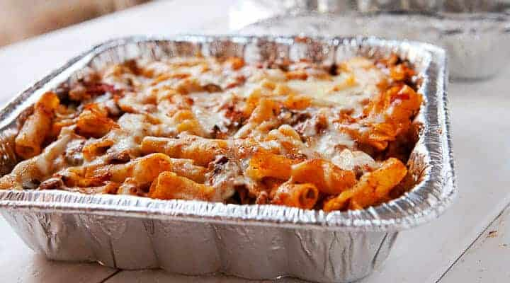 Freezing Baked Ziti: A great freezer casserole of ziti pasta with meat sauce and lots of cheese. A great winter meal that freezes perfectly!
