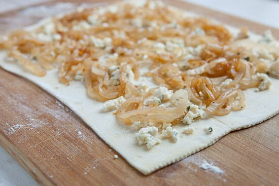 Caramelized onion puff pastry