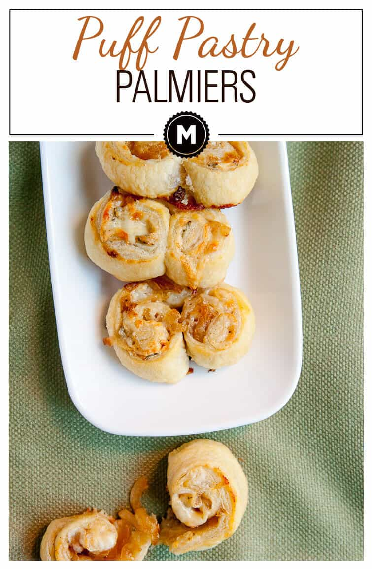 Puff Pastry Palmiers: A super easy 3 ingredient appetizer that has fantastic flavors and is easy to eat while socializing!