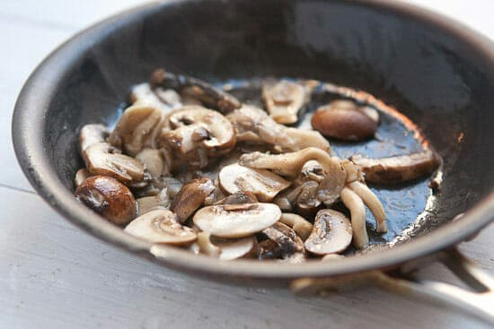 Mushrooms for Soba Noodles with Mushrooms