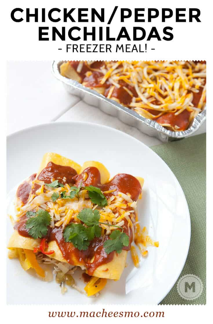 Frozen Chicken Enchiladas: Clean and delicious chicken enchiladas with my favorite homemade enchilada sauce. Plus, instructions on how to freeze these guys perfectly!
