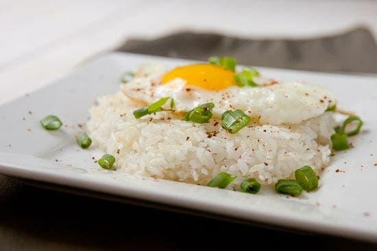 How to Make Crispy Rice Egg on top