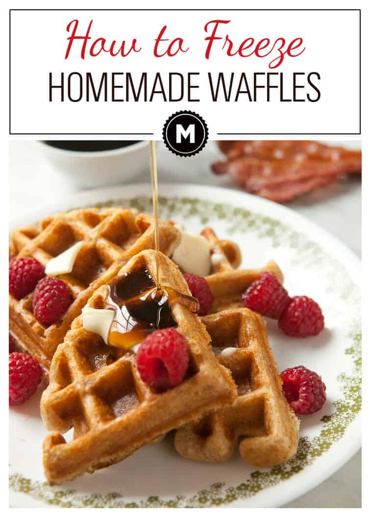 The best way to freeze and reheat waffles! Make a big batch and have quick and delicious breakfasts ready to go in minutes! Be sure to check out my double-wrap method!