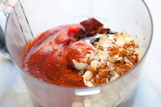 Spicy Romesco sauce pulse.