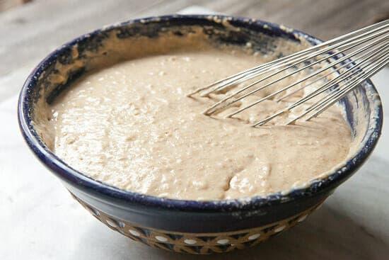 Homemade waffle batter.