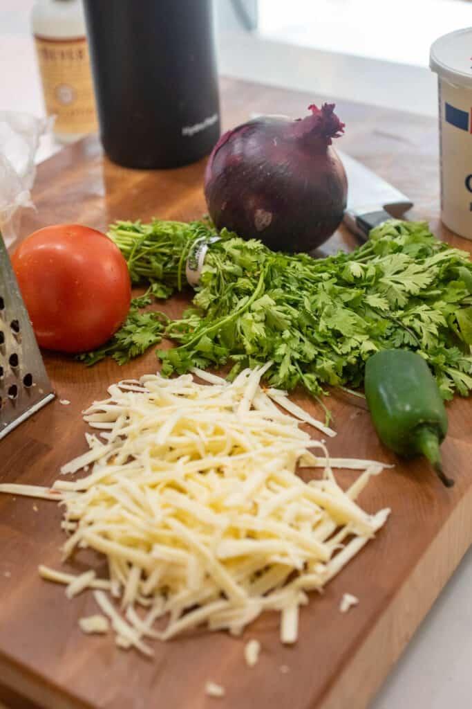 Toppings for Carne Asada Nachos