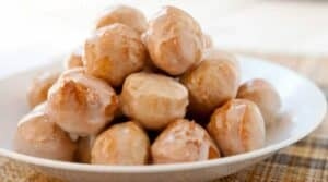 30 Minute Donut Holes: No joke. These take 30 minutes to make (if you're slow) and are as easy to make as a pancake mix. Don't forget the maple glaze!