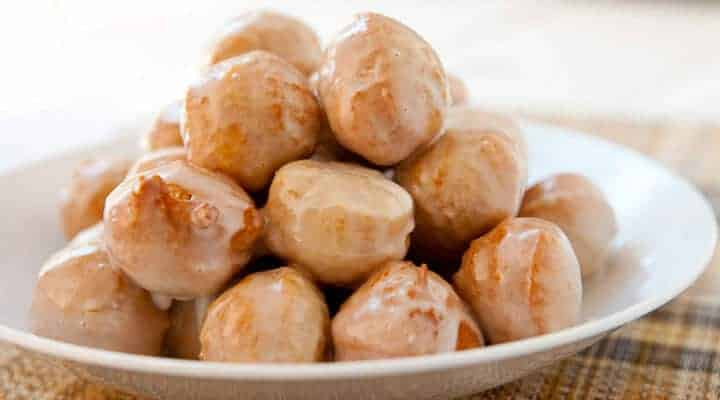 30 Minute Donut Holes with a Maple Glaze - Macheesmo