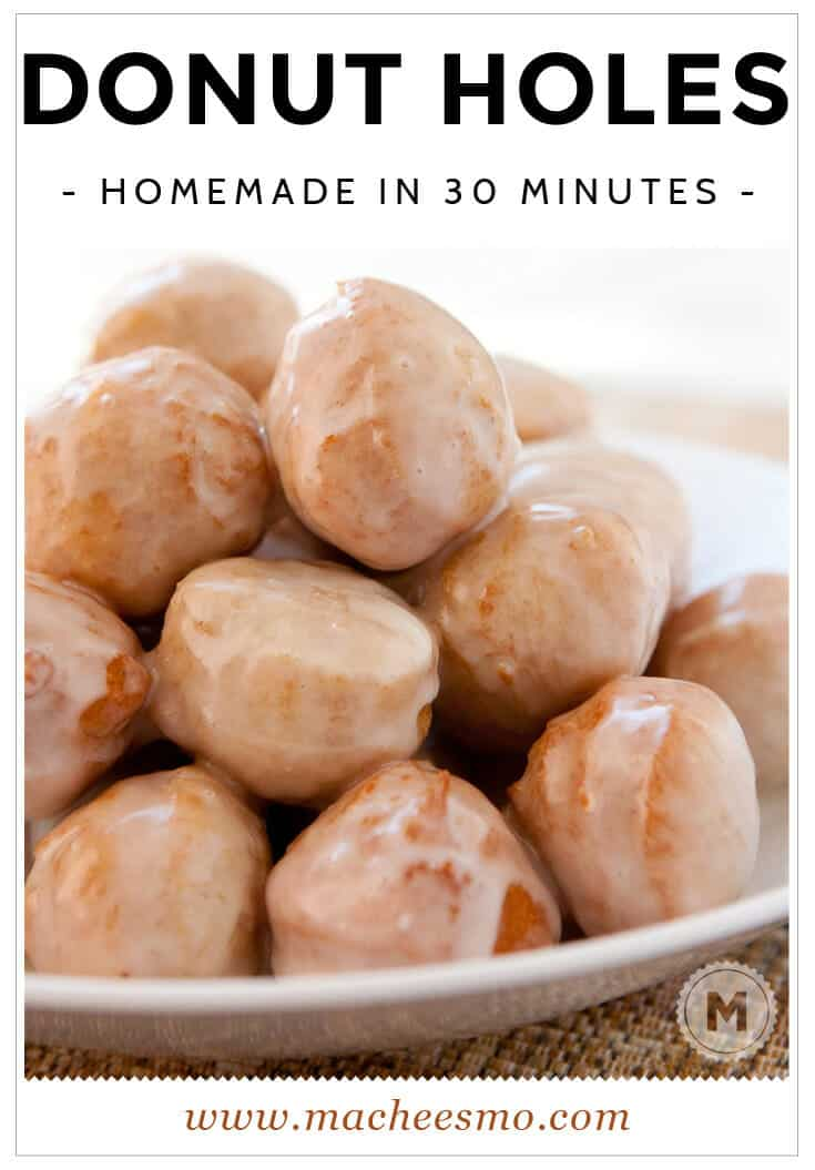 30 Minute Donut Holes With A Maple Glaze Macheesmo