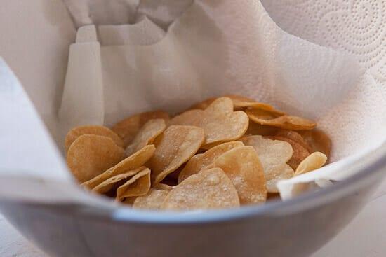 Nacho chips fried.