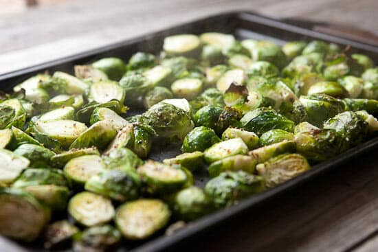 Roasted sprouts.