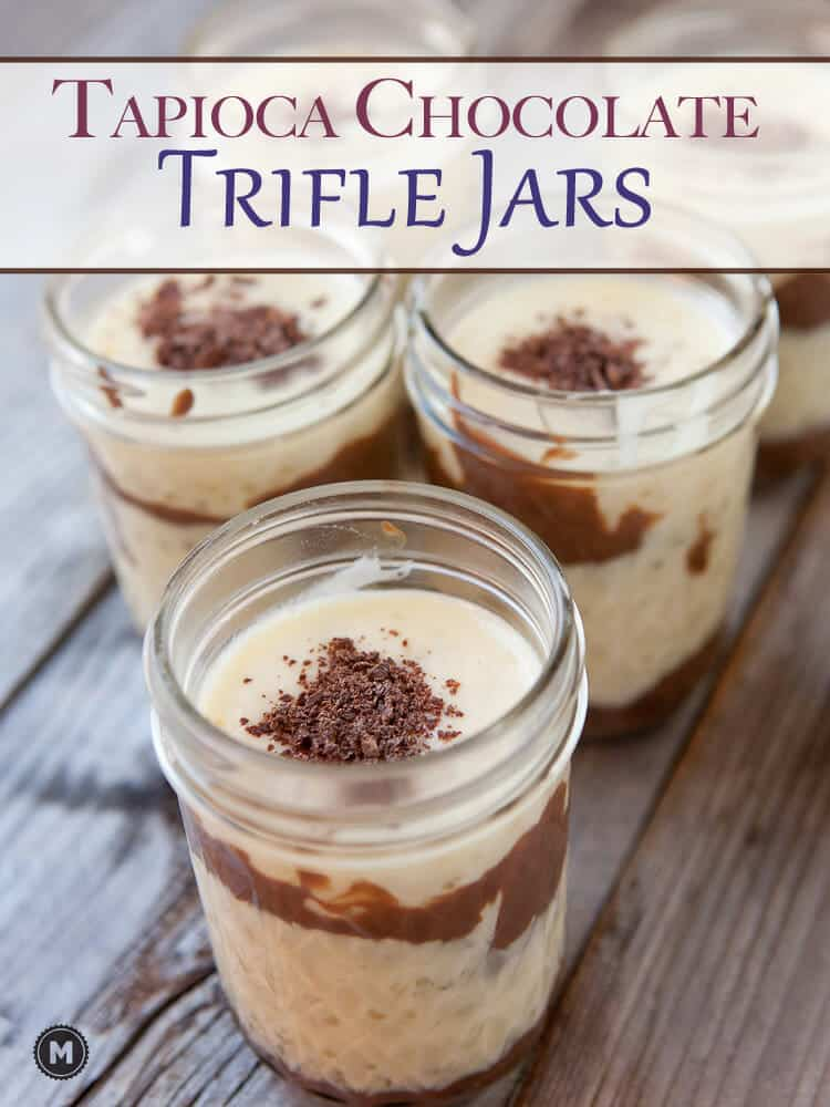 Coconut and Chocolate Tapioca Trifle Jars: If you're going to eat dessert, eat good dessert! These pudding trifles are at the top of my list these days. THey are the perfect portion and worth every second of prep!
