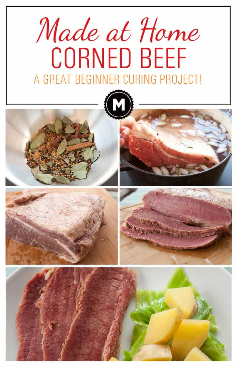 Homemade Corned Beef: A great beginner curing project. Easy to make and feeds a crowd for St. Patricks Day (or any day actually)! It also makes great sandwiches!