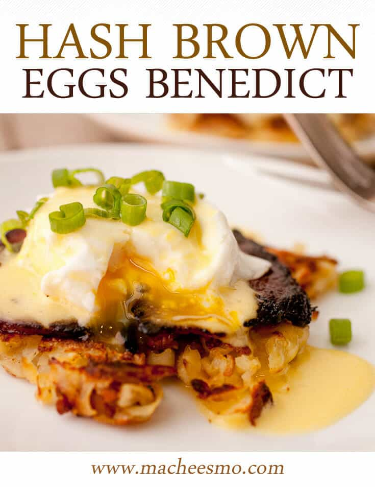 Hash Brown Benedict with browned potatoes, seared ham, a perfectly poached egg, and a lemon hollandaise sauce! The perfect brunch dish in my opinion!