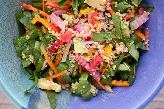 Quinoa spinach salad.