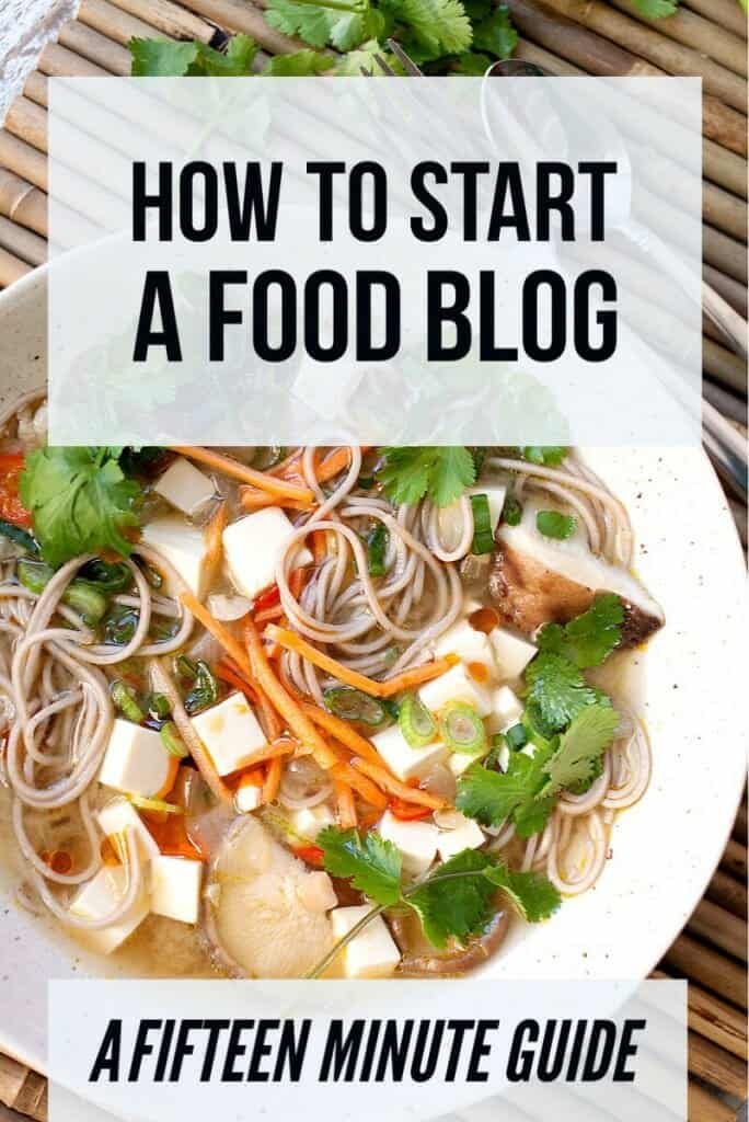 How to Start a Food Blog in 15 minutes! A full walkthrough, step-by-step on how to start a food blog in about 15 minutes!