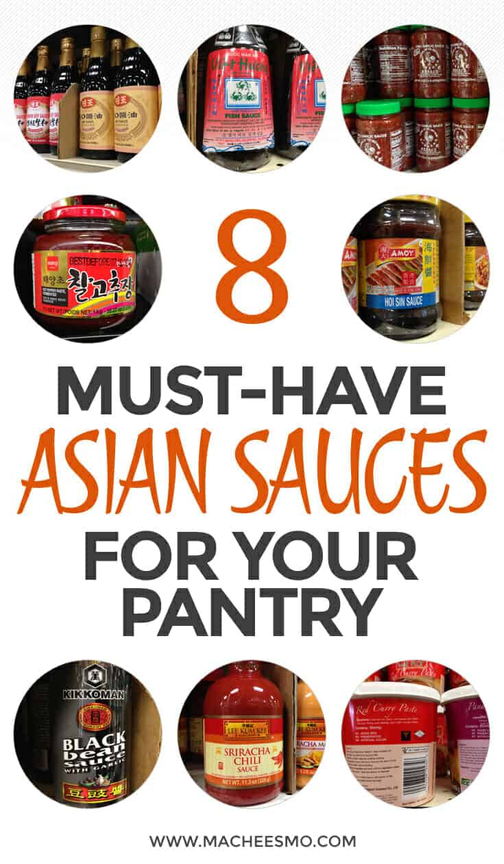 Eight Essential Asian Sauces that every pantry should have. You can make a huge variety of Asian dishes and spice up your normal cooking with these common eight sauces!