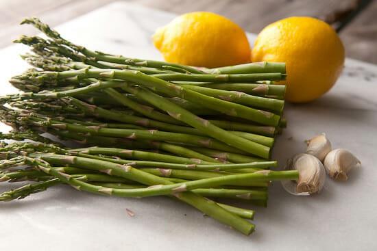 Asparagus carbonara veg