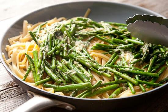 Asparagus carbonara mix.