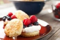 Mini Biscuits and Berries