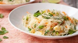 Cold Rice Noodle Salad - This is such a great cold salad, perfect for summer lunches or a weekend picnic. I like to add some browned crumbled tofu to mine and loads of fresh veggies and herbs.