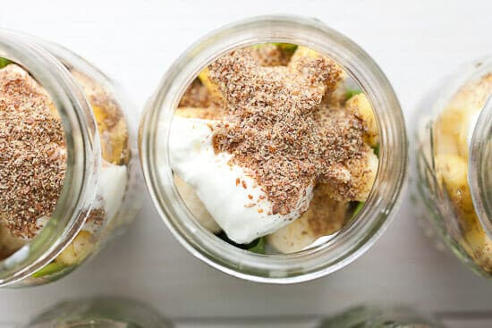 Freezer Mason Jar Smoothie add-ins.