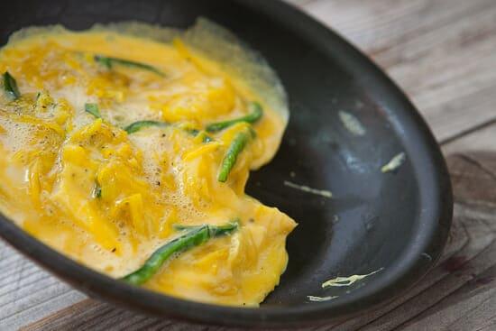 Golden beet omelet.