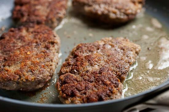 Homemade Salisbury steak.