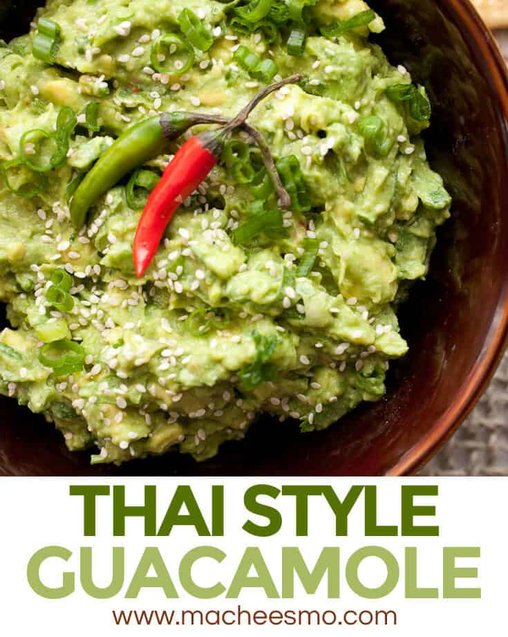 Thai Guacamole: A nice twist on the classic appetizer with spicy Thai bird chilis, sesame oil, and lots of fresh herbs. Share it or don't!