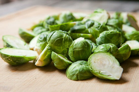 Crispy Brussels Sprouts prep.