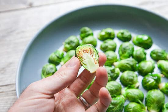 Crisping Sprouts.