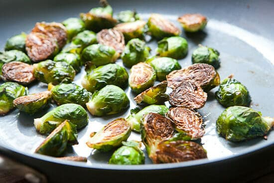 Crispy Brussels sprouts.