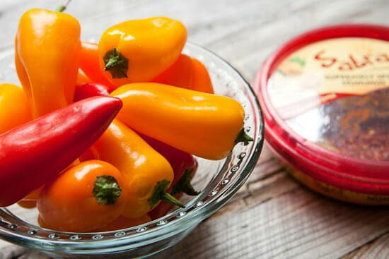 Sweet peppers for stuffing.