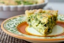 Pesto Kale Quiche: Packed with sautéed kale, pesto, and parmesan, this quiche is my new favorite brunch item. Inspired from a Whisked! DC Bakery item!