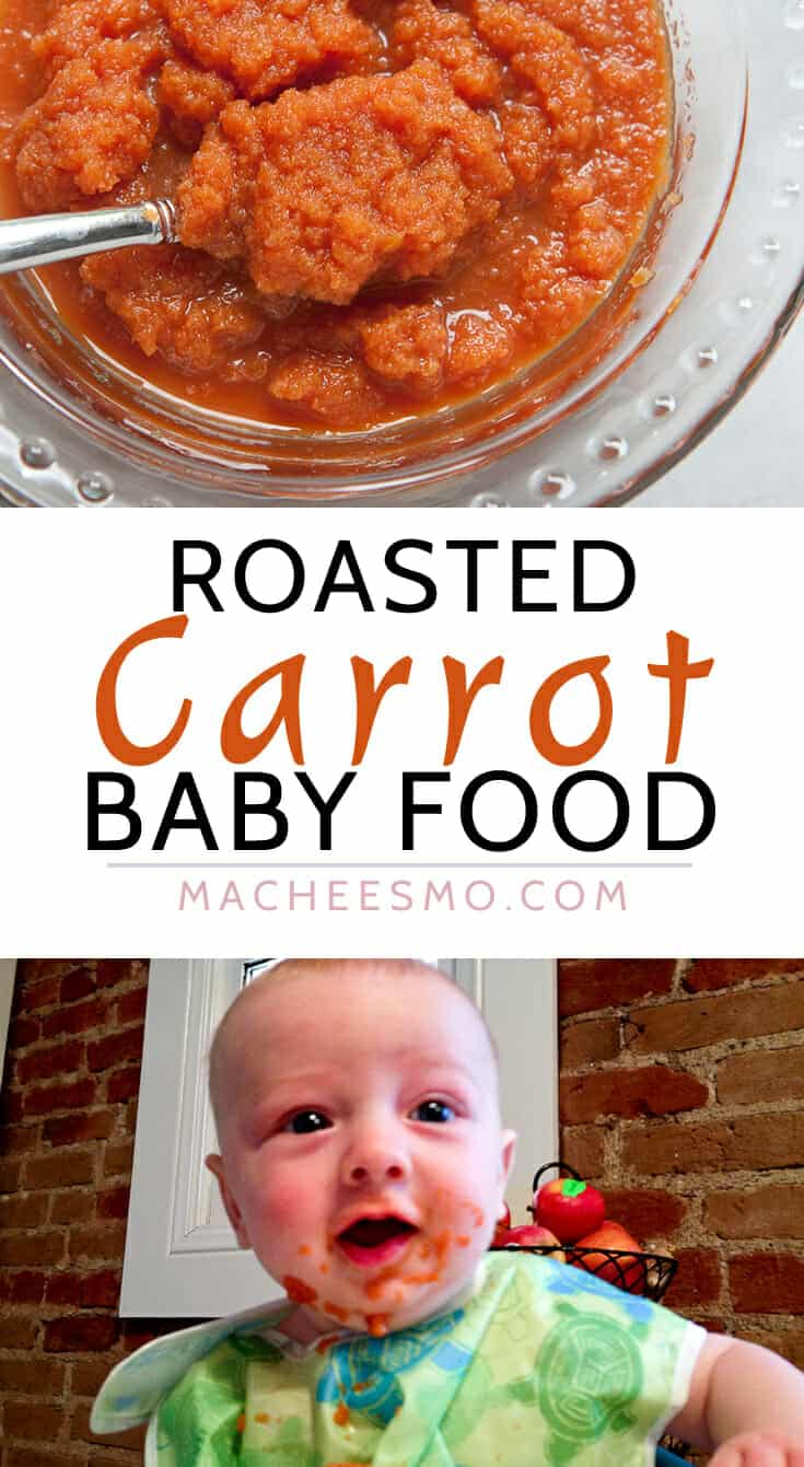 Roasted Carrot Baby Food: A great starter baby food. It's easy to make with just carrots! Feed your baby real food right away!