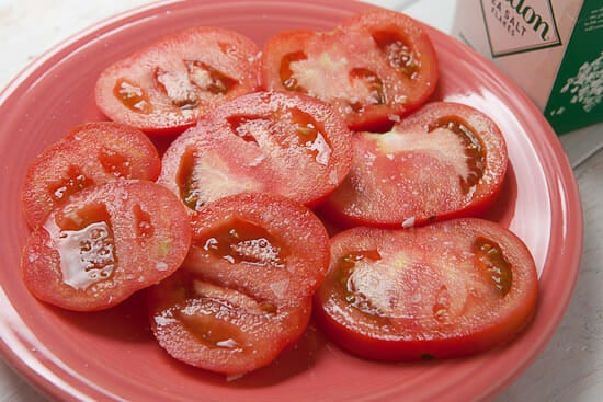Tomatoes for sandwiches.