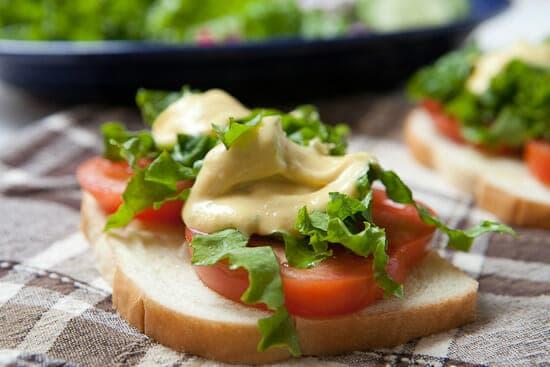 Salad sandwiches.