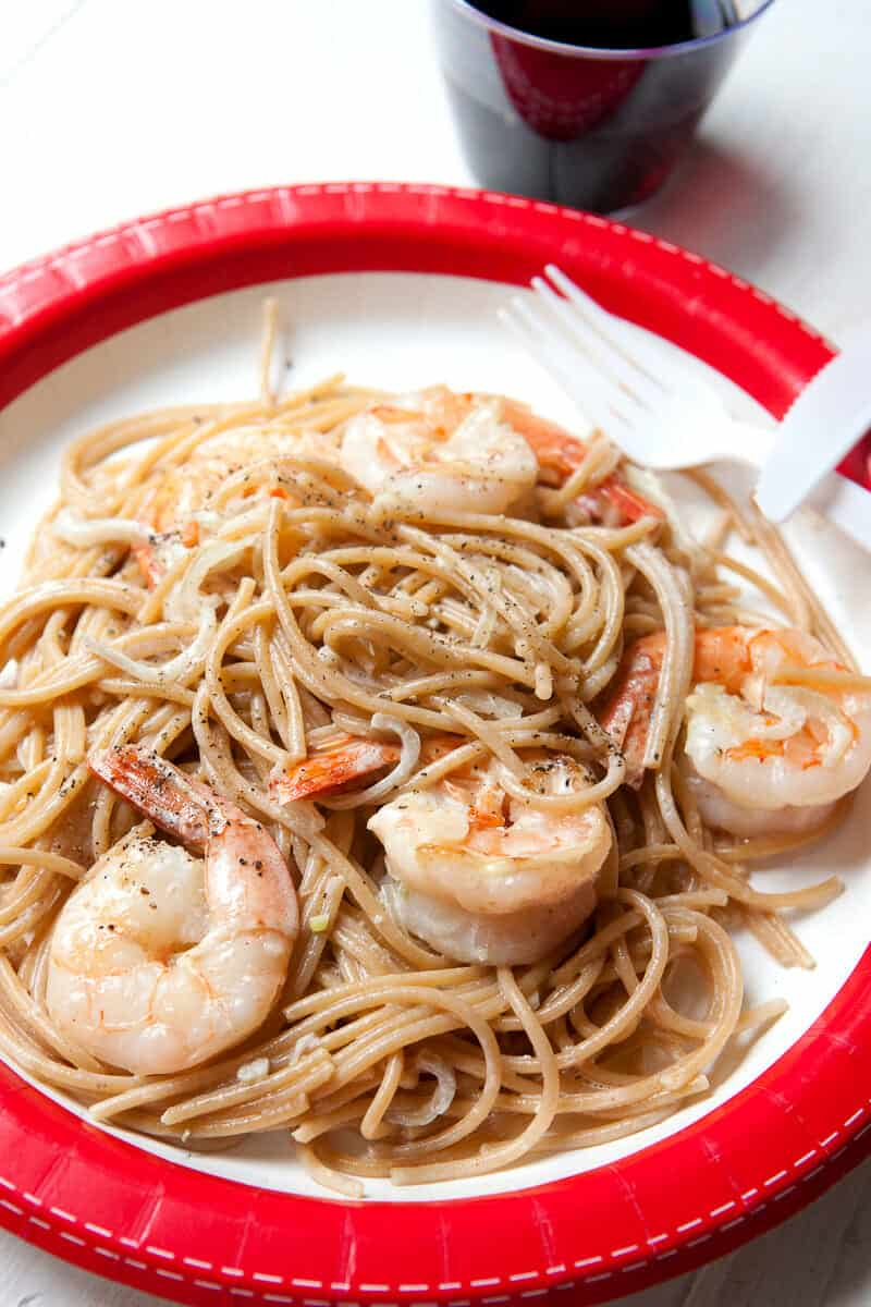 Easy shrimp scampi for one recipe