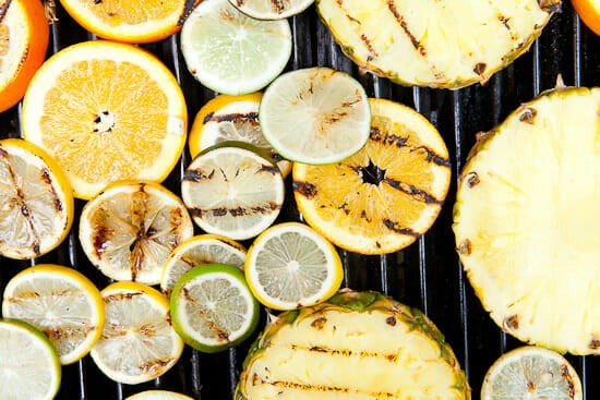 Grilled fruit sangria.