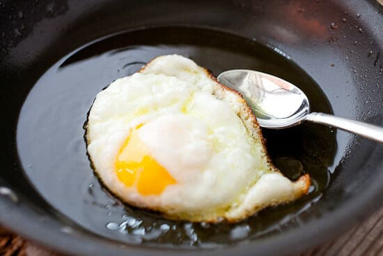 Crispy fried egg.