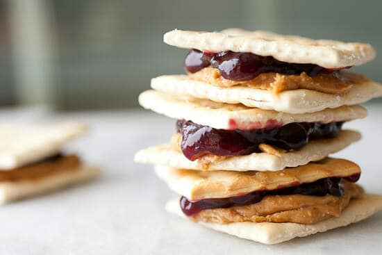 saltine cracker recipes - PB&J