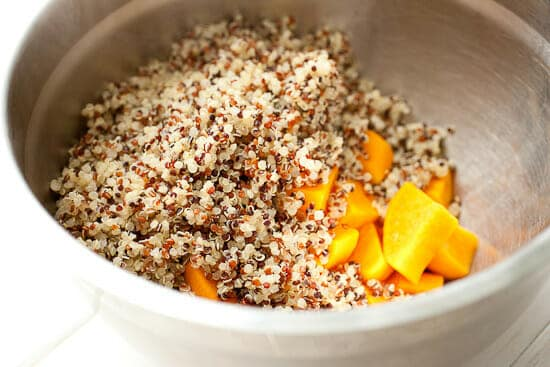 Sweet potato quinoa cooked.