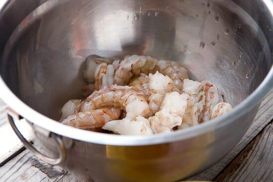 Thai shrimp flatbread
